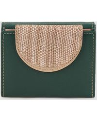 El Corte Inglés - Dark Green Leather Wallet With Double Compartment - Lyst