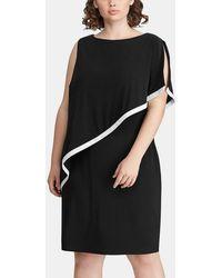 Denim & Supply Ralph Lauren - Plus Size Asymmetric Black Dress - Lyst