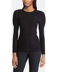 Polo Ralph Lauren - Ribbed Knit Jumper With Belled Sleeves - Lyst