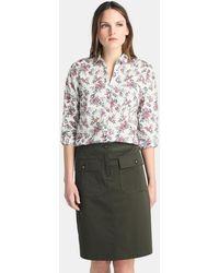 70fd626540f Zendra El Corte Inglés - El Corte Inglés Zendra Short Khaki Skirt - Lyst