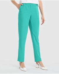 Yera - Green Straight Trousers - Lyst