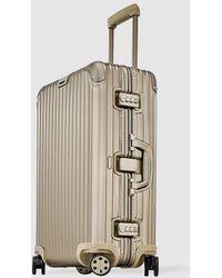 RIMOWA Topas Titanium Rigid Gold 64 L Medium Suitcase - Metallic