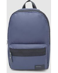 DIESEL Plain Navy Blue Backpack With Zip