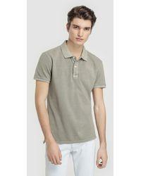 6c4fd67ee10c Green Coast Blue Piqué Short-sleeve Polo Shirt in Blue for Men - Lyst