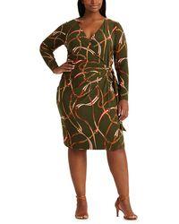 Denim & Supply Ralph Lauren Plus Size Long Sleeve Maxi Print Dress - Multicolor