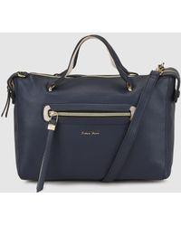 Robert Pietri - Navy Blue Handbag With Outer Pockets - Lyst
