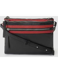 Jo & Mr. Joe - Jo & Mr Joe The Sound Two-toned Black And Red Leather Crossbody Bag - Lyst