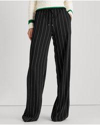 Lauren by Ralph Lauren Wo Wide-leg Pants - Black
