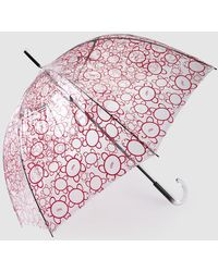 Caminatta Transparent Umbrella With A Red Print