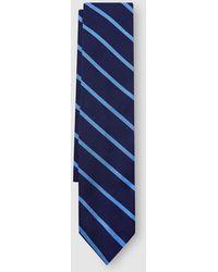 Polo Ralph Lauren - Cravate En Soie Bleu Marine À Rayures Contrastantes -  Lyst d88fc0f3483