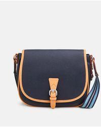 Esprit Navy Blue Crossbody Bag With Flap