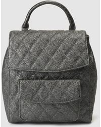 El Corte Inglés - Silver Quilted Backpack With A Metallic Finish - Lyst