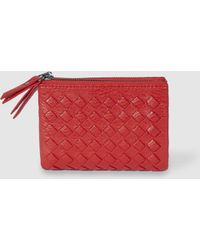 El Corte Inglés - Small Red Wallet With Woven Details - Lyst