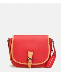 Esprit Red Crossbody Bag With Flap