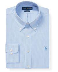 Polo Ralph Lauren Mens Regular-fit Blue Striped Easy Iron Shirt
