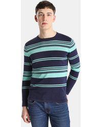 Green Coast - Navy Blue Striped Jumper - Lyst