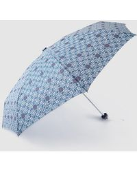 Caminatta - Blue Printed Mini Fold-up Umbrella - Lyst