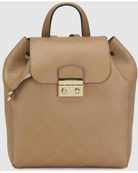 Guess - Wo Taupe Backpack With Topstitching - Lyst