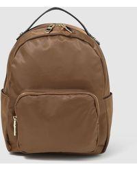 El Corte Inglés Brown Nylon Backpack With Zip