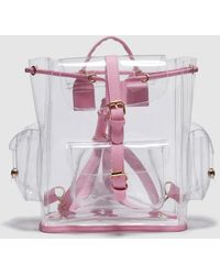 Green Coast - Wo Transparent Backpack With Pink Details - Lyst