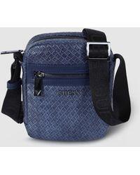 692c9875e2 Navy Blue Plaited Crossbody Bag With Zip