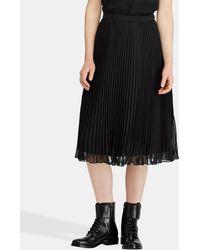 Polo Ralph Lauren - Chiffon Pleated Skirt - Lyst