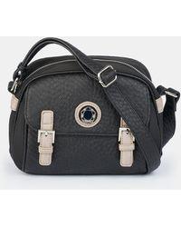 Caminatta Wo Black Crossbody Bag With Metal Logo