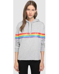 Green Coast - Short-cut Sweatshirt With A Front Print - Lyst