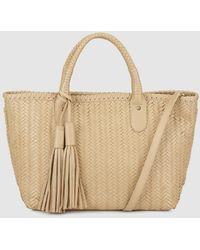 529316861bee Gloria Ortiz - Bella Camel-coloured Leather Mini Shopper Bag With Tassels -  Lyst