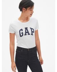 Gap Short Sleeve T-shirt With Logo - White