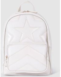 El Corte Inglés White Quilted Backpack With Front Star