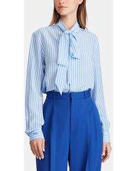18f8186f242ede Lyst - Polo Ralph Lauren Tie-dye Long-sleeve Shirt in Pink