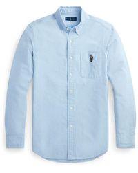 Polo Ralph Lauren - Camisa Oxford De Hombre Regular Lisa Azul - Lyst