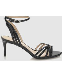 Guess - Black High Heel Sandals With Criss-cross Straps - Lyst