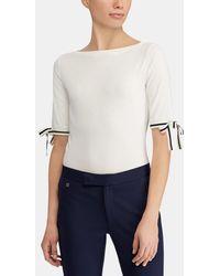 Lauren by Ralph Lauren - Short Sleeved T-shirt With Bows - Lyst