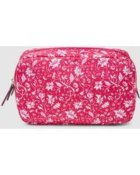 El Corte Inglés Medium Fuchsia Printed Toiletry Bag - Pink