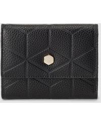El Corte Inglés Small Black Embossed Wallet With Fastener