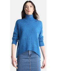 Vero Moda - Oversized Sweater With A Polo Neck - Lyst