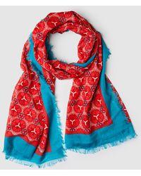 Jo & Mr. Joe - Blue And Red Print Foulard - Lyst