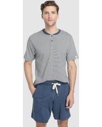 Punto Blanco Mens Short Blue Knit Pajamas