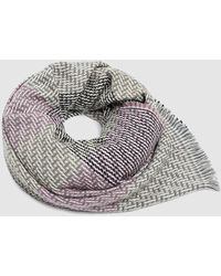 Esprit Grey Maxi Scarf With Woolly Finish - Gray