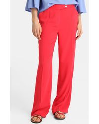 Zendra El Corte Inglés - El Corte Inglés Zendra Straight Coral Trousers - Lyst