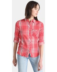 Green Coast - Checked Shirt With Double Fabric - Lyst