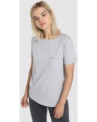 Green Coast Short Sleeve T-shirt With A Pocket - Gray