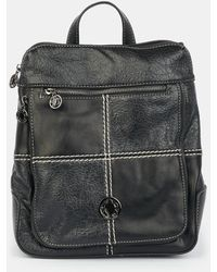 Caminatta Black Backpack With Front Patch