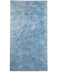 Desigual - Galaxy Blue Foulard With Pointillist Mandalas - Lyst