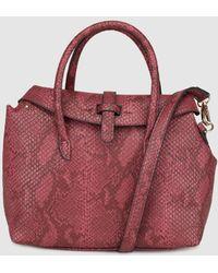 El Corte Inglés - Small Burgundy Handbag With Snakeskin Effect - Lyst