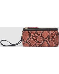 El Corte Inglés Two-tone Black And Pink Wallet With Animal Print Detail - Multicolor