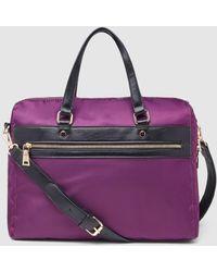 El Corte Inglés Purple Nylon Portfolio With Zip