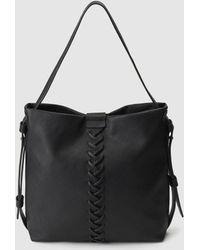 El Corte Inglés - Black Hobo Bag With Front Plaiting - Lyst